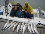 boat fishers with caught walleyes